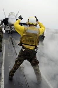 Flight operations aboard the USS Kitty Hawk